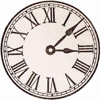 Clock Face Printable Antique Roman Numeral Clocks