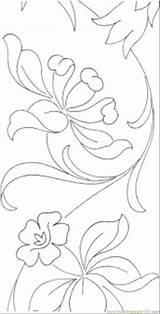 Pattern Printable Pages Flowers Flower Coloring Patterns Designs Tender Embroidery Sheets Mosaic Hand Coloringpages101 Printables Visit Drawing sketch template