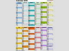 Calendar 2018 UK 16 free printable PDF templates