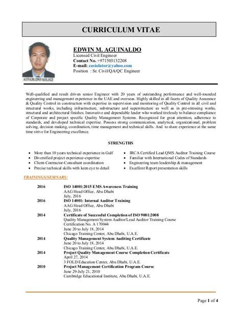 qa qc engineer resume pdf edwin cv for qa qc engineer