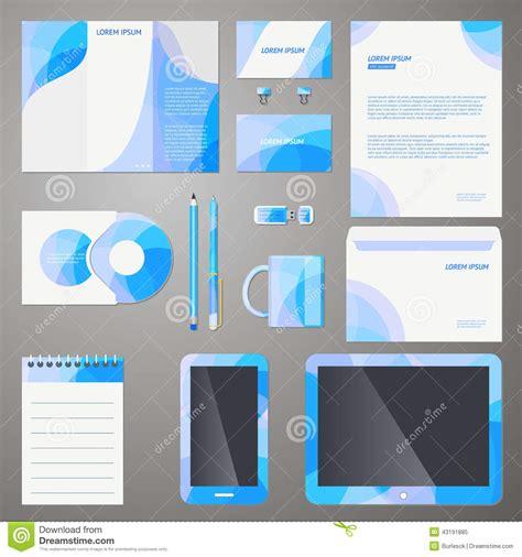 Stylish Company Brand Design Template Stock Vector