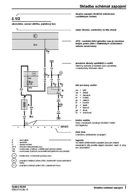 skoda octavia wiring diagram service manual