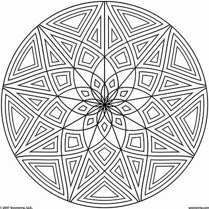 Coloring Geometric Shapes Crazy Mandala Mandalas Cool