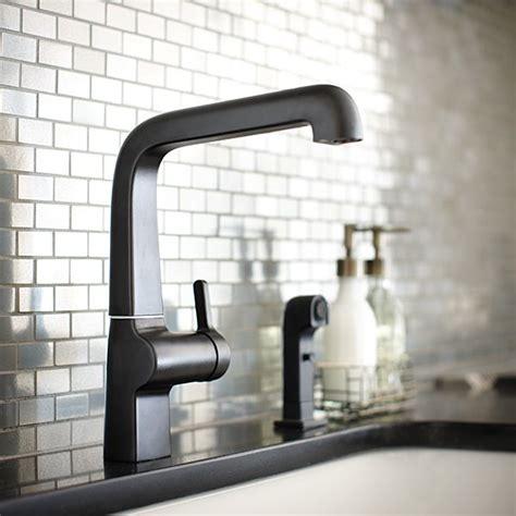 Evoke Kitchen Faucet by The Evoke Kitchen Faucet In Matte Black Looks Spectacular