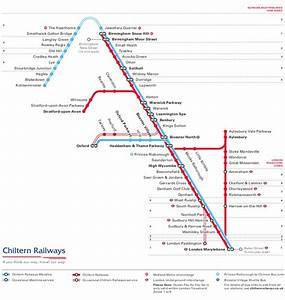 Chiltern Train    Rail Map