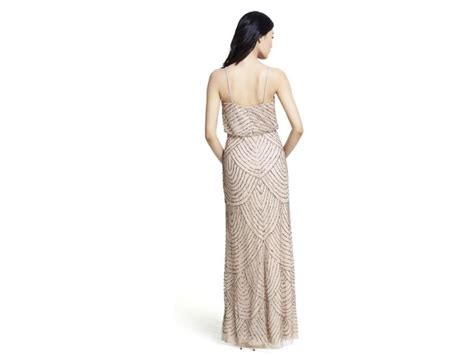 papell deco beaded blouson gown style 09186670 size 8 bridesmaid dresses