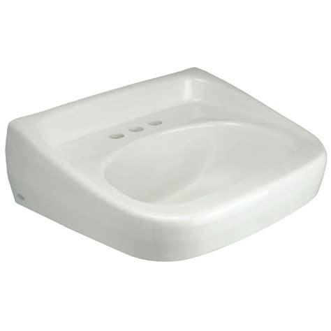 zurn wall mounted bathroom sink  white   home