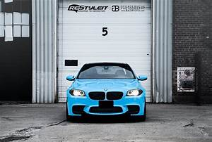 Olympic Blue BMW M5 Vehicle Customization Shop Vinyl