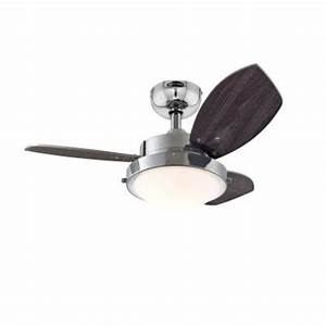 Ceiling fan with light bulb : Westinghouse quot chrome three blade reversible