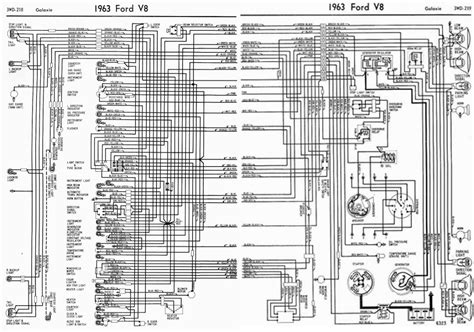 1966 Ford Galaxie Ignition Wiring Diagram by Ford V8 Galaxie 1963 Complete Electrical Wiring Diagram