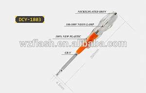 approved ce two way use test pen with acrylic crystal With neon test screwdriver digital voltage circuit tester set12250v