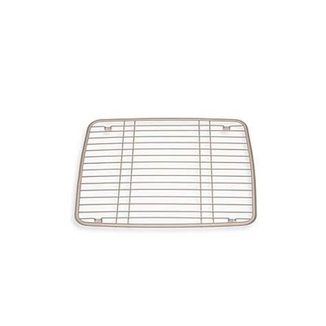 interdesign kitchen sink protector grid mat  satin