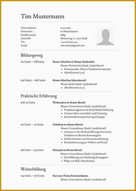Gestaltung Lebenslauf Muster by 18 Lebenslauf Verk 228 Uferin Muster Sporting Lincs