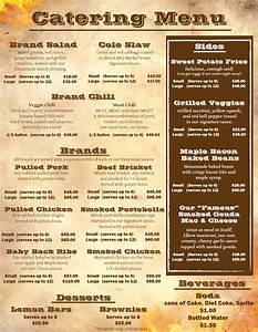 brand bbq food truck catering menu page 2 of 2 chicago With catering menus templates