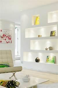 Wanddeko Wohnzimmer Dekorative Wandnischen