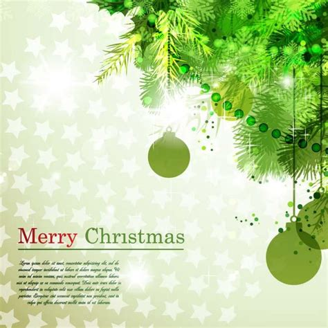holiday stationery green christmas card vector download at vectorportal