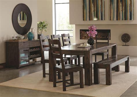Calabasas Dark Brown Dining Room Set From Coaster (121151