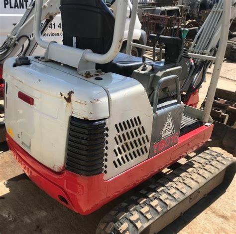 digger bidder takeuchi tb mini excavator   hours  buckets
