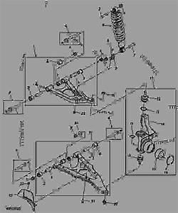 Front Suspension -  U516c U7528 U8f66 U8f86 John Deere M-gator