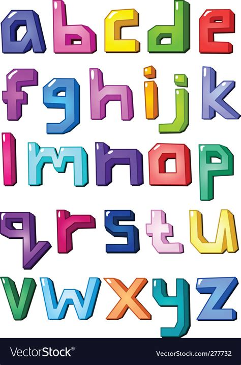 graphic alphabet letters royalty  vector image