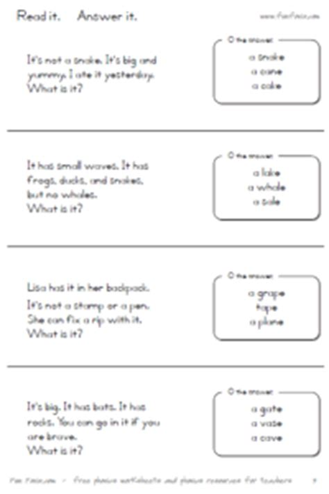 fun fonix book  long vowels  silent  worksheets