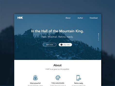 hmk website template sketch freebie   resource  sketch sketch app sources