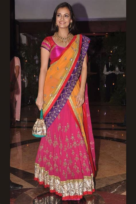 south indian saree draping styles how to wear half saree in south indian style saree guide