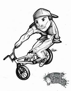 Find The Pro Riders In The Funny Toonz Illustrations Up