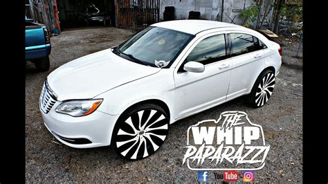 white chrysler 200 on 26 quot starr gatsby wheels lifted by