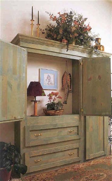 rustic armoire wood furniture plan