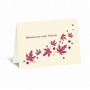 graceful leaves thank you card invitations by dawn With wedding thank you cards invitations by dawn