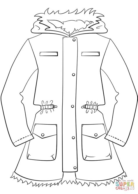 winter jacket coloring page  printable coloring pages
