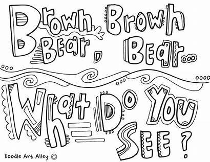 Call Coloring Classroom Bear Brown Backs Classroomdoodles