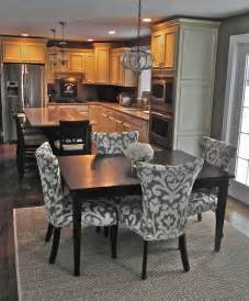 Eat In Kitchen Furniture Pretty Dining Chairs And Square Table Pendant Light Is Kitchen