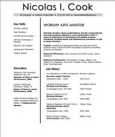 worship pastor resume sle nic cook worship resume church leader lab