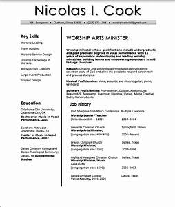 Ministry Resume Templates Nic Cook Worship Resume Church Leader Lab