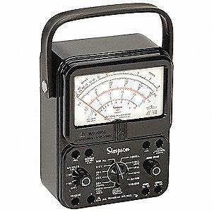 Simpson Electric Analog Multimeter  1000 Max  Ac Volts