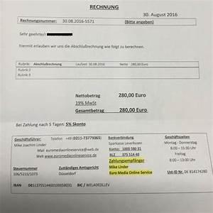 Fake Rechnung :  ~ Themetempest.com Abrechnung