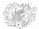 Koi Fish Coloring Pages Adults Colouring Adult Printable Cute Bestappsforkids Pond Fishes Print Drawing Patterns Most Books Animal Getdrawings Getcolorings sketch template