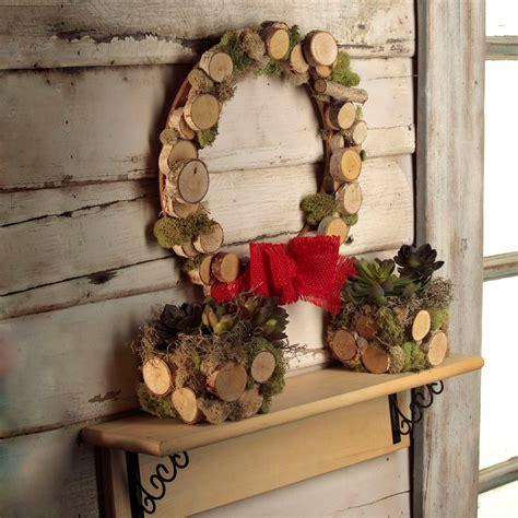wooden disc fall wreath ilovetocreate