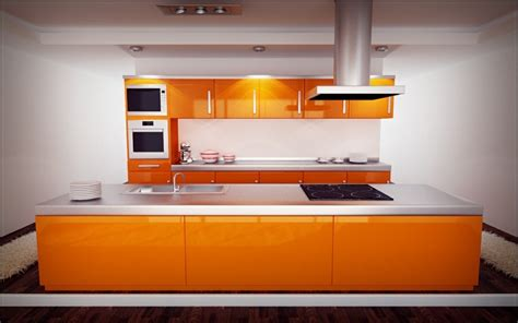 kitchen design orange cuisine orange 50 id 233 es d am 233 nagement stimulantes 1294