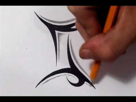 gemini tattoos   draw  simple tribal star sign youtube