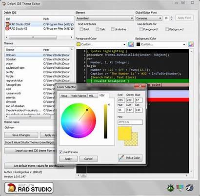 Delphi Ide Theme Editor Screenshot Screenshots Programming