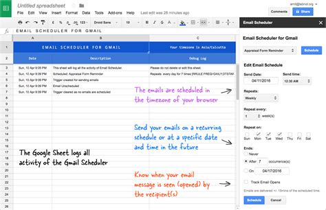 how to schedule email messages in gmail with a