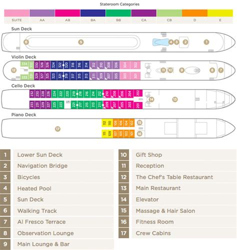 Gem Deck Plan 4 by Amawaterways River Cruises Deck Plan Amakristina