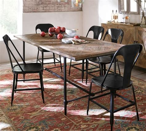 parquet dining table parquet dining table pottery barn 1416