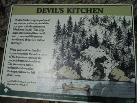 devils kitchen mackinac island s kitchen plaque picture of mackinac island state 6690