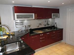 cuisine rouge et noir pas cher sur cuisinelareduccom With cuisine moderne rouge et noir