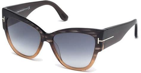 sonnenbrille tom ford tom ford damen sonnenbrille 187 anoushka ft0371 171 otto