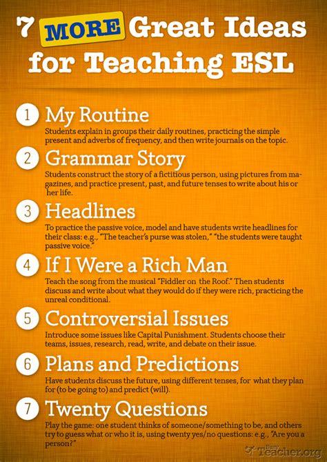 great ideas  teaching esl poster